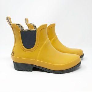 L.L. Bean Yellow Wellie Rain Boot - EUC